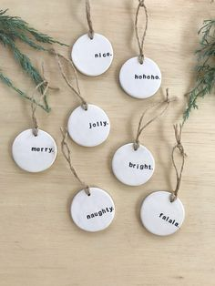 Most up-to-date Cost-Free simple clay ornaments Thoughts PRE-ORDER: Christmas Gift Tag, Unique Gift Tag, Tree Ornament, Clay Gift Decoration, Handmade Gift Baby First Christmas Ornament, Christmas Clay, Diy Christmas Ornaments, Christmas Decorations, Homemade Christmas, Diy Cadeau Noel, Handmade Gift Tags, Navidad Diy, Christmas Gift Tags