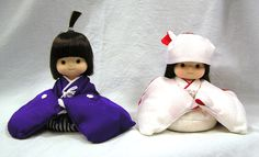 "Vtg Sekiguchi Kimekomi BRIDE & GROOM Wedding Dolls Japan Vinyl 6"" by MermeowTreasures on Etsy"