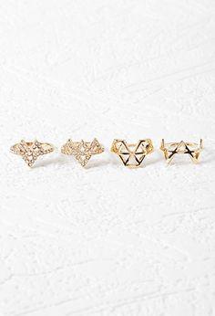 Triangular Cutout Ring Set   Forever 21 - 1000146054