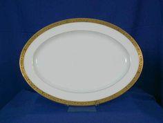 Sango Carlisle 3716 White 14 inch Platter #Sango