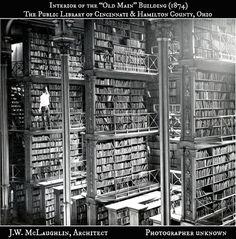 Interior of the Old Main building- The public library of Cincinnati and Hamilton