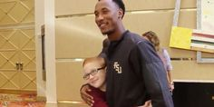 The FSU player surprised the sixth grader with a custom jersey and tickets to a…