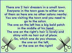 hairdressers in a town riddle