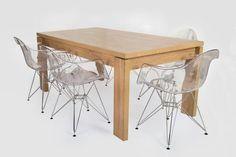 Letta 6 Seater Dining Room Table Dark wood LDF x x cm Swayze Ghost Chair PC seat Metal legs x x cm