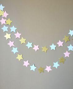 Gender Reveal Twinkle Twinkle Little Star Garland, Baby Shower, Gender Reveal Party Decorations, Cake Smash Banner