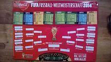 Blechschild Fußball Weltmeisterschaft 2014 coca cola 74  FIFA World Cup Brasil