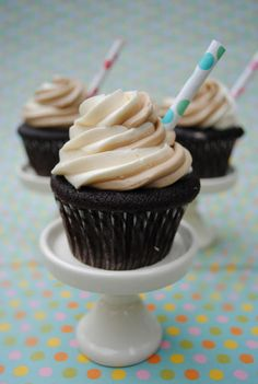 rootbeer float cupcakes. I have a different recipe for these, but I need to tweak it, so maybe this will help.