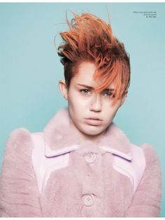 """Perfect 10"" Miley Cyrus by David Sims for Love #11 Spring 2014"