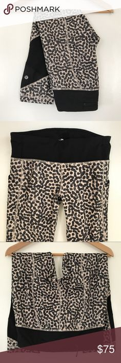 Lululemon Pace Rival Crop Pants Pre-loved, worn once, women's running crop pants, full on luxtreme material, with mesh panels, side pockets, three pocket waistband, ace spot grain black. Please feel free to ask questions. No trades. lululemon athletica Pants Ankle & Cropped
