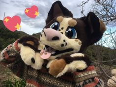 Photo by whatsuphotdog on twitter! very cute dog fursuit!!