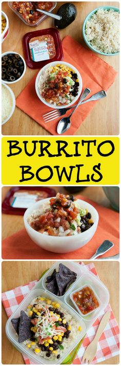 The idea of a burrito bowl isn't new, but packing these Lunchbox Burrito Bowls are sure to get your kids excited about eating lunch! (Lunch Recipes At Home) Lunch Box Bento, Eat Lunch, Lunch To Go, Lunch Boxes, Box Lunches, Lunch Time, Lunch Recipes, Dinner Recipes, Healthy Recipes