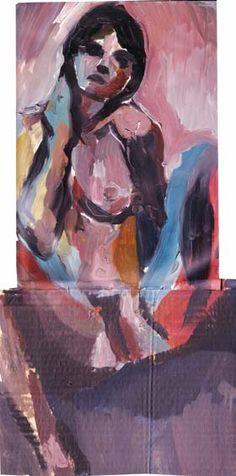 Bather XXXVII by Jamie Boyd, oil on card, 49 x 25cm, available from: http://www.cornwallcontemporary.com/boyd_reche2.html