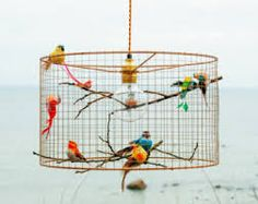 Image result for pendant light in glass and copper wire