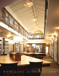 Corporate office library at Marc-Michaels Interior Design in Winter Park, FL