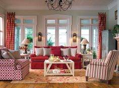 Decorating with Red | Living Room Decor