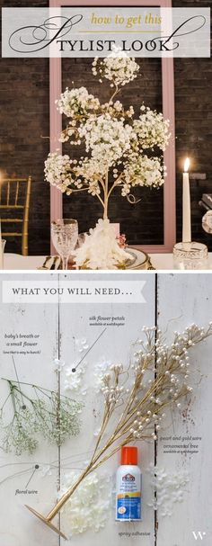 40 diy wedding centerpieces ideas for your reception painted achieve this look diy centerpiece diy centerpieceswedding junglespirit Choice Image
