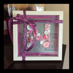 Great gift ideas! 'N' Initial - Pretty in Pink shadow box frame! Visit me @ www.laninspirations.com