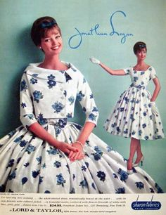 Dolores Hawkins for Jonathan Logan Vintage Outfits, Vintage 1950s Dresses, Vestidos Vintage, Retro Dress, 1960s Fashion, 50 Fashion, Fashion History, Fashion Models, Vintage Fashion