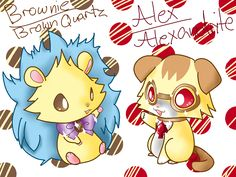 Jewelpet Brown Quarts and Alexandrite Alex and Brownie by Chaomaster1.deviantart.com on @deviantART
