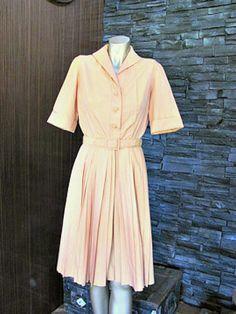 Vintage 1950's Gold Shirt Waister Permanent by CrimsonCrimplene, $95.00