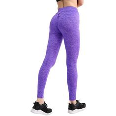 Women Pencil Pants Workout Fitness Leggings Skinny Pantalon Femme Trousers Women Casual Sweatpants Purple S Black Workout Leggings, Black Leggings, Women's Leggings, Leggings Style, Jeggings, Trousers Women, Pants For Women, Womens Workout Outfits, Legging Outfits