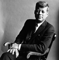 John Fitzgerald Kennedy is elected as president of the United States in 1960.