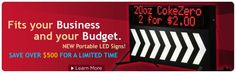 Advertise Your Business with a Dynamic LED Sign that Costs Thousands Less than Other LED Signs!