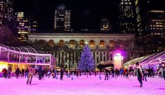 The ice rink at Bryant Park's Winter Village