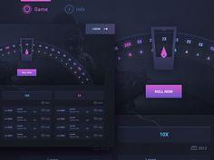Roulette Wheel - Gaming Web Design by Nader Keshavarz