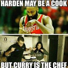 James Harden vs. Steph Curry. #Rockets #Warriors - http://nbafunnymeme.com/nba-memes/james-harden-vs-steph-curry-rockets-warriors-2