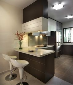 Ideas for kitchen. L shaped and fridge.