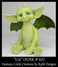Fantasy Little Dragon DollHouse Art Doll Polymer Clay CDHM OOAK IADR Uyi Mini