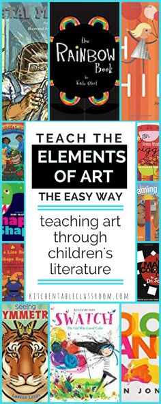 Art Books for Kids- Teach the Elements of Art Through Books - The Kitchen Table Classroom - Children's lit is my go-to move for introducing ideas to my kids; be it an art movement or a scie - Principles Of Art Balance, Elements And Principles, Elements Of Art, Art Books For Kids, Art Lessons For Kids, Art Lessons Elementary, Elementary Teaching, Elementary Art Education, Primary Teaching