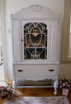 Love these china cabinets
