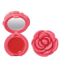 Iconic Avon Blooms & Kisses Lip Gloss - Top Quality by AVON Be Little Ms. Mod with a cool-girl compact reminiscent of London that comes in an iconic gift box. The blooming gloss opens to reveal a mirror for all touch-ups of your Twiggy-inspired look! Pink Lip Gloss, Pink Lips, Makeup Set, Cute Makeup, Avon Lipstick, Baby Doll Accessories, Aesthetic Makeup, Things To Buy, Lip Balm