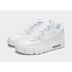Shop online for Kids - White Nike Junior Footwear (Sizes with JD Sports, the UK's leading sports fashion retailer. Air Max 90, Nike Air Max, Air Max Sneakers, Sneakers Nike, Jd Sports, Nike Kids, White Nikes, Matching Outfits, Sport Fashion