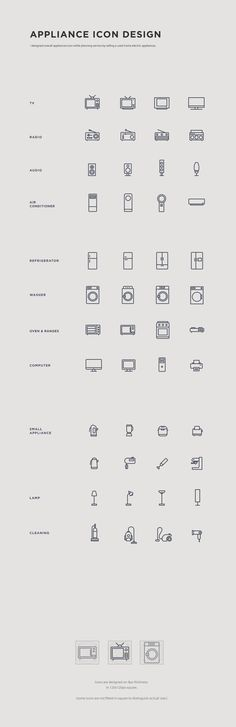 Appliance Icon Design on Behance