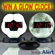 Sonic Alert Sonic Glow Clock Giveaway | Ends 5.7.20 Christmas Books, Kids Christmas, Space Music, The Game Is Over, Gift Card Giveaway, Stars And Moon, Digital Alarm Clock, How To Fall Asleep, Glow