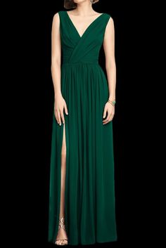 emerald green bridesmaids dress