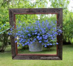 1. Turn an old window frame into a planter | 17 Charming Garden Art DIYs