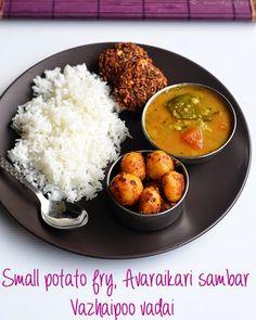 South indian lunch menu for stomach upset recipe lunch menu lunch menu 36 vazhaipoo vadai sambar small potato curry indian partyindian foodsindian recipespotato forumfinder Image collections