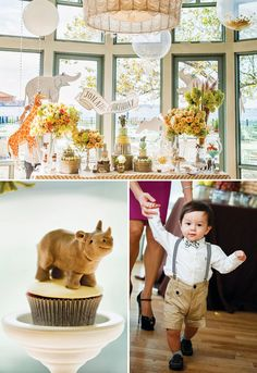 Jungle Animal Themed Carnival First Birthday {Korean Dol}