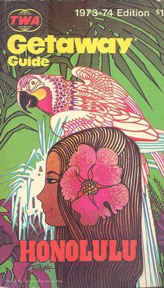 TWA Airlines Getaway Guide HONOLULU Hawaii 1973.