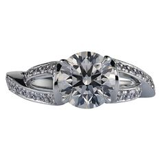 Brides: Engagement Rings with Unique Band by Lazare Diamonds :