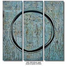 LIFE,  3 – 125 X 40 cm. each, acrylic on panel