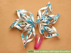 Image titled Make a 3D Paper Snowflake Step 10