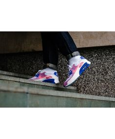 the best attitude 29798 7e8a7 Air Max 90 Ultra 2.0 Flyknit White Medium Blue Bright Melon Racer Pink  Womens Cheap Sale