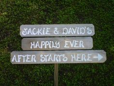 Happily Ever After Starts Here Wedding Sign With by TRUECONNECTION