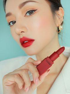 Son Red Recipe Lip Color Dolly I Son chính hãng Red Lipstick Makeup, Red Makeup, Asian Makeup, Lipstick Shades, Girls Makeup, Makeup Inspo, Beauty Makeup, Makeup Pics, Soft Makeup