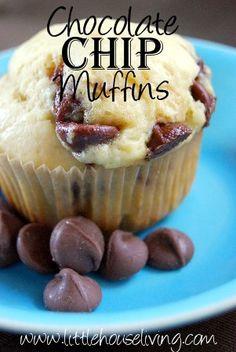 Homemade chocolate chip muffins - yum!